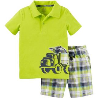 Child of Mine by Carter's Baby Toddler Boy Collared Shirt and Short Outfit Set, 2 Pieces