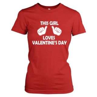 Crazy Dog TShirts   Youth This Girl Loves Valentine's Day T Shirt Kids Valentines Tee For Girls   Reds