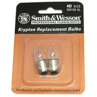 SW145AL Smith & Wesson Smith & Wesson Powertech Krypton 4.8V Bulb for SW450BL 4D Flashlights, Pack of 2