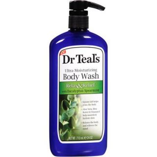 Dr Teal's Ultra Moisturizing Relax & Relief Body Wash with Eucalyptus Spearmint 24 oz. Pump