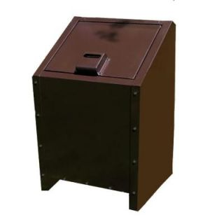 Paris 34 Gal. Metal Animal Proof Trash Can in Brown 461 311 0002
