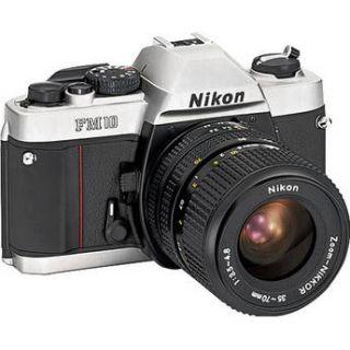 Nikon FM10 35mm SLR Camera with 35 70mm Lens 1689