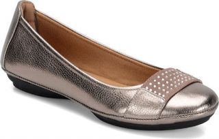 Womens Comfortiva Sallis Flat   Anthracite Cow Floater