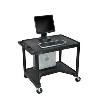High Workstation with Leg Room Cut Out