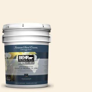 BEHR Premium Plus Ultra 5 gal. #290A 1 Angel Food Satin Enamel Interior Paint 775005