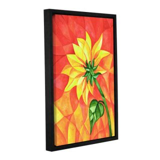 Tiffany Buds Flaming Sunflowers 1 Gallery Wrapped Floater framed