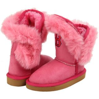 Boston Red Sox Cuce Girls Youth Mini Me Fanatic Boots   Pink