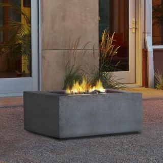 Real Flame Baltic Square Fire Table Glacier   Fire Pits