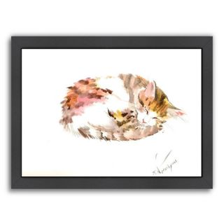 Resting Cat Framed Painting Print by Americanflat
