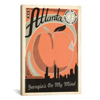 iCanvas 'Georgia's on My Mind   Atlanta' by Anderson Design Group Vintage Advertisement on Canvas
