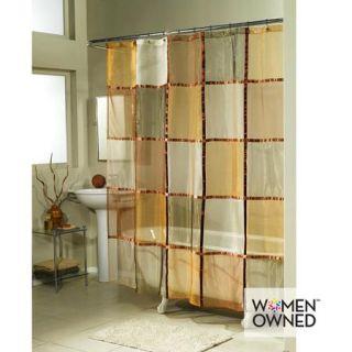 Ex Cell Home Fashions Mosaic Fabric Shower Curtain, Terra Cotta