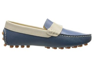 Fendi Kids Color Block Moccasins w/ Logo Detail (Big Kid) Blue/Multi