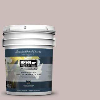 BEHR Premium Plus Ultra 5 gal. #750A 3 Vintage Taupe Satin Enamel Interior Paint 775405