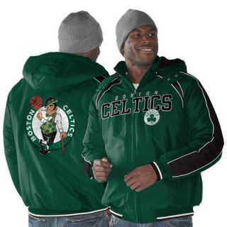 Boston Celtics Slot Receiver Full Zip Hooded Jacket   Kelly Green