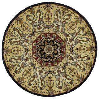 Kaleen Tara Black Round Indoor Tufted Area Rug (Common: 4 x 4; Actual: 45 in W x 45 in L)