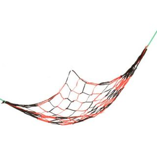 Garden Swing Orange Red Dark Gray Nylon Net Mesh Sleeping Bed Hammock 2Mx1.4M