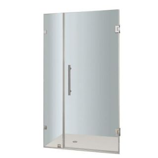 Aston Nautis 33 in. x 72 in. Frameless Hinged Shower Door in Chrome with Clear Glass SDR985 CH 33 10