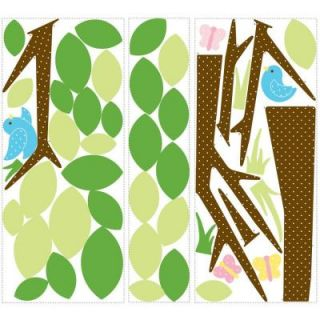 18 in. x 40 in. Dotted Tree 48 Piece Peel and Stick Wall Decals RMK1319GM