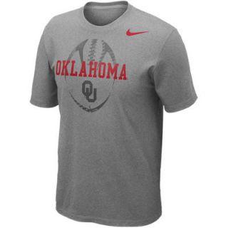 Nike Oklahoma Sooners Football Team Issue T Shirt   Gray