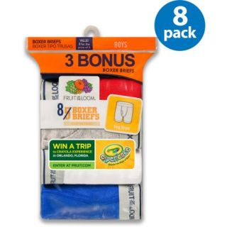 Fruit of the Loom Boys 5+3 Assorted Color Boxer Brief Bonus Pack