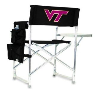 Picnic Time Virginia Tech Black Sports Chair with Digital Logo 809 00 179 604