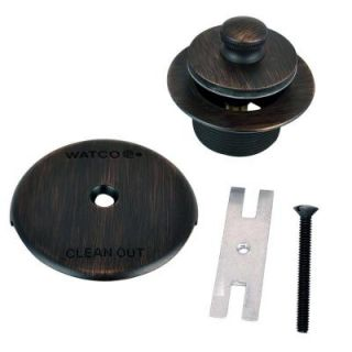 Watco 1.625 in. Overall Diameter x 16 Threads x 1.25 in. Push Pull Trim Kit, Oil Rubbed Bronze 38080 BZ