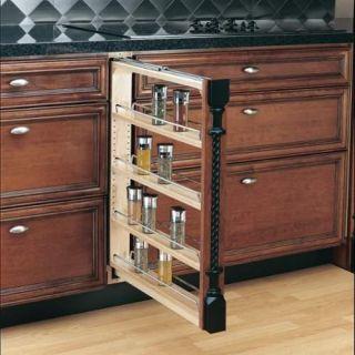 Rev A Shelf 432 BF 3C 432 Series 3 Inch Base Cabinet Pull Out Shelf Filler