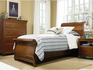 smartstuff Classic 4.0 Saddle Brown Sleigh Bed   Kids Sleigh Beds