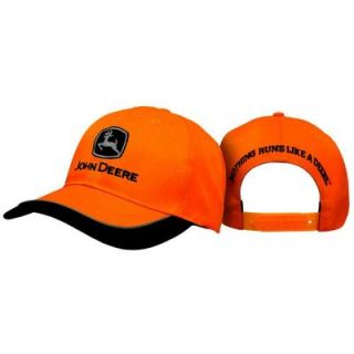 John Deere Men's One Size 6 Panel Twill Hat/Cap in Blaze Orange 13080241BK00