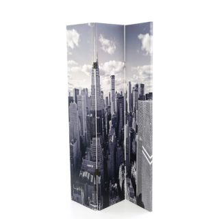 72 x 48 New York Skyline Screen 3 Panel Room Divider by Screen Gems