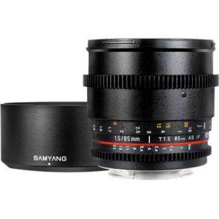 Samyang 85mm T1.5 Cine Lens for Canon EF SYCV85MC
