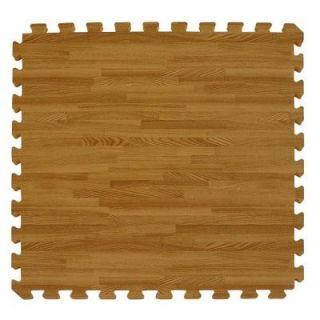 Greatmats Wood Grain Reversible Dark Wood/Tan 24 in. x 24 in. x 0.5 in. Interlocking Foam Floor Tile WoodGrainRevDW