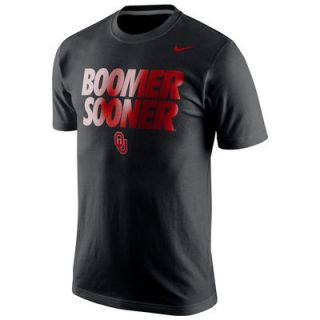 Nike Oklahoma Sooners College Local Cotton T Shirt   Black
