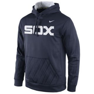 Chicago White Sox Nike Speed KO Performance Pullover Hoodie   Navy Blue