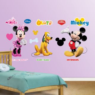 Fathead Mickey, Minnie and Pluto Wall Decals   16833631