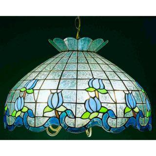 Meyda Tiffany Roseborder Ice 5 Light Bowl Pendant