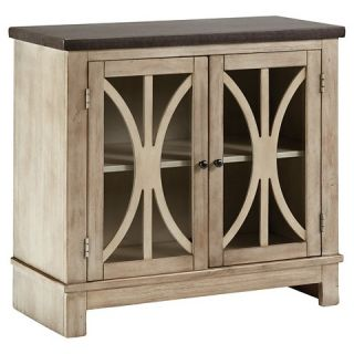 Vennilux Door Accent Cabinet   Bisque   Signature Design by Ashley