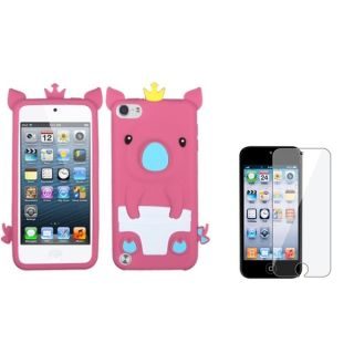 Insten Soft Silicone iPod Case Cover/ Clear LCD Screen Protector for