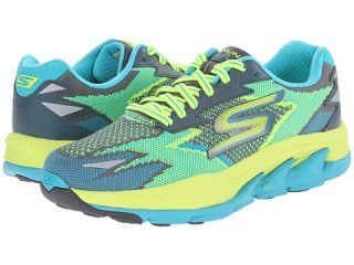 Skechers Go Run Ultra Road Turquoise Lime, Shoes, Skechers