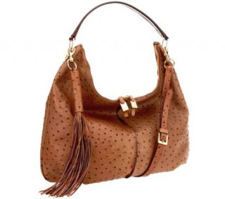 As Is G.I.L.I. Milano Double Zip Exotic Leather Hobo —