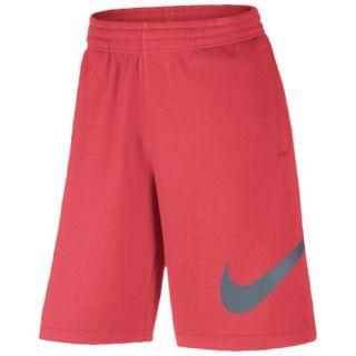 Nike Club Exploded Swoosh Shorts   Mens   Casual   Clothing   Light Photo Blue/Light Crimson