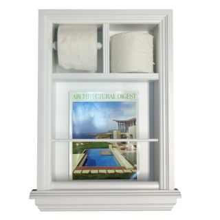In The Wall Magazine Rack with Toilet Paper Combo by WG Wood Products