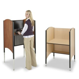 Hi Lo Carrel Desk by Smith Carrel