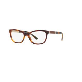 Burberry BE2232 3316 Light Havana Plastic Cat Eye Eyeglasses w/ 51mm