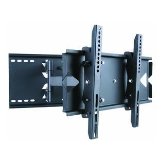 Monoprice Full Motion TV Wall Mount Bracket (Max 130 lbs, 23   37 inch