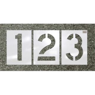 "CH Hanson 70358 12"" x 9"" HWY font 12 pc. Number LDPE Reuseable Stencil Kit"