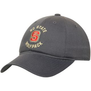 NC State Wolfpack adidas Fan Slouch Adjustable Hat   Graphite