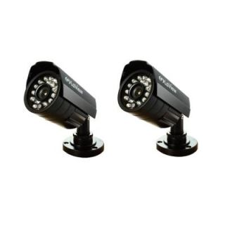 LaView Wired 520 TVL Indoor/Outdoor Bullet Security Camera with 35 ft. Night Vision (2 Pack) LV KAC2B
