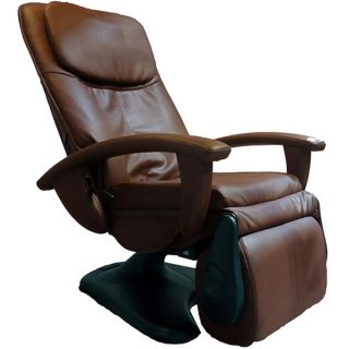 Chocolate Quad Roller Power Recline Human Touch Massage Chair