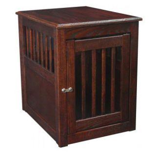 Dynamic Accents Medium Oak End Table Pet Crate
